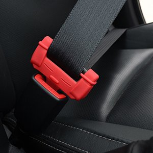 2PCS Car Safety Belt Buckle Covers Padding Anti Scratch Silicon Interior Pad Buckle Protector Seat Belts Padding Car Accessories