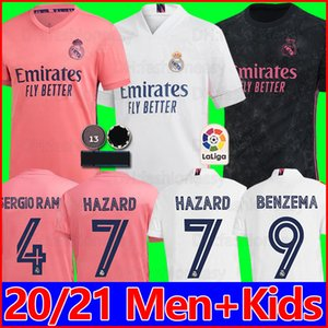 남성 키즈 레알 마드리드 유니폼 camiseta kits 2020 축구 유니폼 SERGIO RAMOS MODRIC 19 20 Maillots de football 4th Kids 골키퍼 키트 Camisa