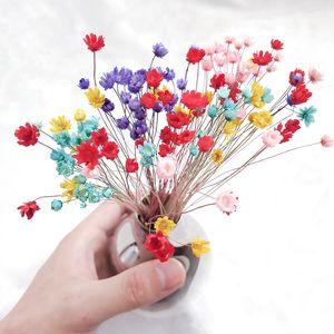 Marchwind Bonne fleur petit bouquet naturel Mini fleur pour le bricolage mariage Décoration d'intérieur Accessoires photo Props Accueil Mariage Décoration
