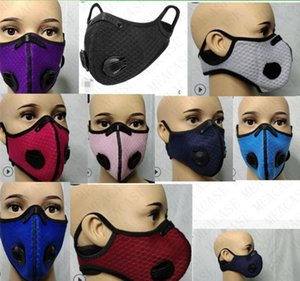 Adults Designer Face Mask with Double Breather Value and Filter Fashion Outdoor Sport Cycling Masks Dustproof Anti Wind Riding Masks D7712