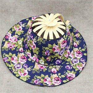 Folding Fan Traveling cap New Arrive Hand Held Folding Fans Summer Women Girl Sun Hat Bamboo Dancing Fan Floral Cloth cap