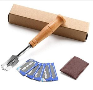 Ekmek Bıçaklar Ekmek Lame Seti Özel Ekmek Ark Kavisli KnifeWood Kol Ahşap Kol 5Pcs Yedek Bıçaklar Kazıyıcı Bıçak Aracı LSK259