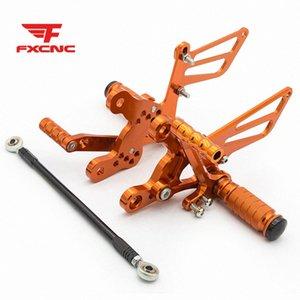Para CBR900RR 893cc (SC28) CBR919RR (SC33) CBR400RR NC29 motocicleta Apoio para os pés footpeg pedal Peg rearset Rear Set hJvG #