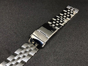 22 24mm Gümüş İki Ton Altın Paslanmaz Çelik Bilek Kayışı İzle Kemer İzle Band Kayışı