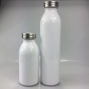 Kapaklar Çocuk Çift Duvar Vakum İzoleli Su Şişesi ile DIY Isı Sublime 12oz / 20oz Süt Şişeleri Paslanmaz Çelik Süt Şişesi