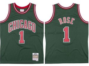 Men's basketball ChicagoBulls1 DerrickRose Mitchell & Ness 2008-09 Hardwoods Classics Authentic Jersey