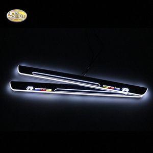 SNCN LED перемещение света педали потертости для Volkwagen Golf 7 2014-2015 автомобиля акриловой педали водить дверь подоконника приветствовать n4wS #