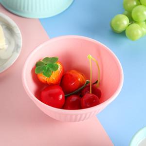 Mini Silicone Bowl Salad Cutter Bowl Kitchen Gadget Fruit Vegetable Chopper Slicers Cutter Salad Kids yq02127
