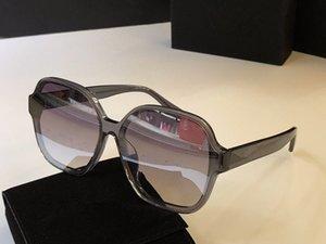 El metal de las mujeres elegantes con el capítulo de ocio del diseñador de los vidrios de la lente con Encanto Anti-UV400 Estilo Gran Plaza 5580 gafas de sol gafas Xvdvm