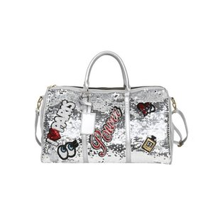 Designer- Women Sequins Travel Bag Men's Large Capacity Weekend Bags Clothes Carry On Duffle Pouch Luggage Suitcase Organizer Gear Handbag