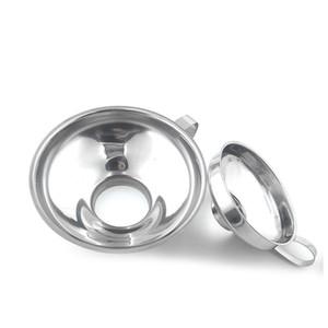 Paslanmaz Çelik Geniş Düzenli Kavanozlar Mutfak Pişirme Araçları için Geniş Ağız Canning Huni Hazne Filtre JK2007XB