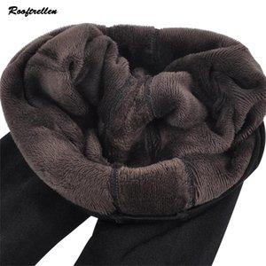 Rooftrellen Sıcak Yeni Moda Kadın Sonbahar Ve Kış Yüksek Elastikiyet Ve İyi Kalite Kalın Kadife Pantolon Sıcak Tozluklar