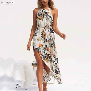 Women Summer Dress Sleeveless Belted Jacket Tunic Maxi Dress Maxi Dresses Womens Floral Print Boho Beach Dress Fashion Party Dresses