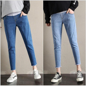 Maternity pants spring and autumn 2019 new pregnant women jeans large size loose casual wear trousers y4HU#
