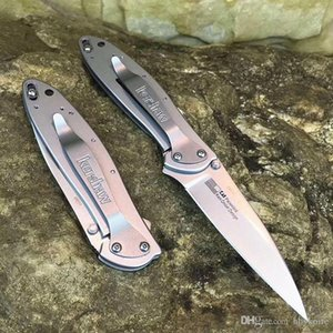Speical Offer Kershaw 1660 Assisted Open Flipper Folding Knife 8Cr13Mov Titanium Blade Stainless Steel Handle With Original Retail Box
