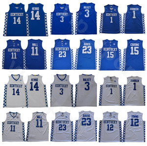 Nueva Escuela de Baloncesto Tyler Herro Jersey Kentucky Wildcats 14 Tyrese Maxey 3 Devin 1 Booker John Wall 11 23 Anthony Davis 12 pueblos
