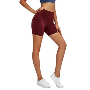 Lululemon-32 Pantaloni di yoga delle donne di colore solido a vita alta Calzature sportive da allenamento a vita alta Elastico Fitness Lady Calzamaglia collant completa