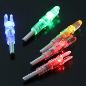 Automatically Luminous 3PCS Fit 6.2mm Arrow Shaft Lighted Bow LED Glowing Arrow Nock Tail High Quality