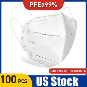 EU Stock 4 camadas de filtro face máscara protetora PM2.5 Anti-fog de protecção Boca Muffle Tampa Máscara 95% de filtração de poeira máscaras faciais Proof
