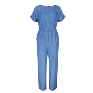 Fashion Formal Office Rompers Womens Jumpsuit Summer Short Sleeve Overall Pants