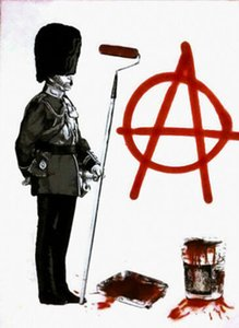 Mr Brainwash Graffiti-Kunst Anarchy Soldat Wohnkultur Handbemalte HD-Druck-Ölgemälde auf Leinwand-Wand-Kunst-Leinwandbilder 4017