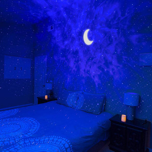Starry Sky Projector Star Led Night Light Proiezione 6 colori Ocean Waving Lights 360 Gradi Rotazione Lampada da illuminazione notturna