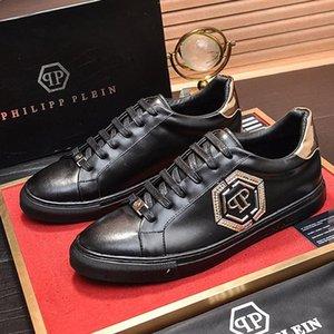 Casuales para hombre zapatos transpirables Pisos moda con la caja Diseño atlético Scarpe Da Uomo Men Shoes Lo-Top Sneakers Hexágono Tipo de moda de lujo