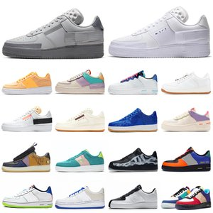 nike air force 1 af1 forces shoes n354 type shadow one chaussures de course triple noir blanc Chaussures femmes formateur hommes mode sport baskets Plateforme