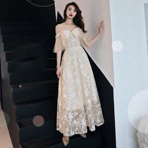 Women New A-line Evening Dress Two Ways To Wear Qipao Sexy Off Shoulder Wedding Party Dresszipper Formal Dress XS-XXL