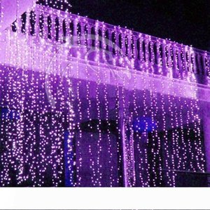 Curtain lights christmas lights 10*3m 10*4m 10*5m LED Twinkle Lighting xmas String Fairy Wedding Curtain background Party Christmas Strips