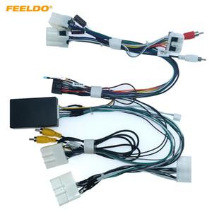 Estéreo FEELDO coche adaptador de cable de alimentación 16PIN Android Audio con CANBUS caja para Nissan Teana XV 04-07 CD / DVD arnés de cableado # 6575