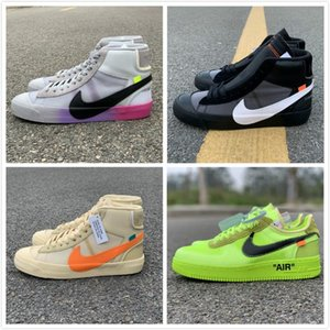 NIKE OW OFFWHITE OFF-WHITE Serena Williams X Blazers Mid Rainbow All Hallows Eve Men Running Shoes Blazer Mid Studio Grim Reepers Womens Trainers Designer 10X Sneakers
