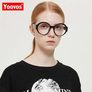Yoovos 2020 Glasses Frame Women Oversized Retro Eyeglasses For Women Blue Light Okulary Vintage Round Eyewear Gafas De Hombre