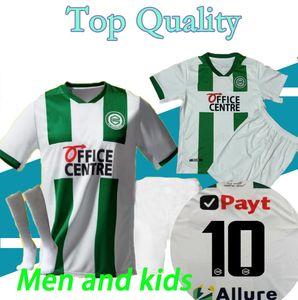 Adults and kids 20 21 FC Groningen soccer jerseys home away robben 2020 2021 Groningen Deyovaisio Zeefuik Daishawn Redan football shirts