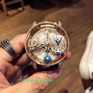 Diamonds New estática versão EPIC X CHRONO CR7 esqueleto Astronomical Tourbillon Dial Swiss Quartz Mens Watch caso de ouro Rose Designer relógios