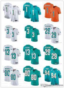 Hombres Mujeres MiamidelfinesJuventud 1 Tua Tagovailoa 29 Minkah Fitzpatrick 13 Dan Marino 3 Josh Rosen 80 Danny Amendola fútbol jerseys