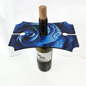 Titular por mayor de encargo rectangular sublimación copa de vino Podría personalizado su propio diseño de calor de placas de transferencia de vino