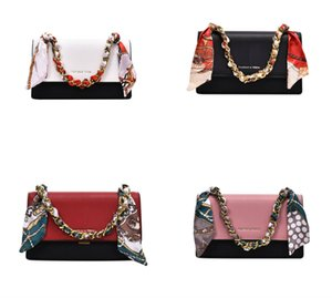 2020 Summer Coverd Women Luxury Bags Leather Silk Ribbon One Shoulder Bag Female Handbag With Free Shipping