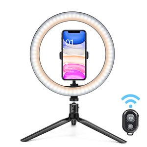 26cm LED Ring Light Dimmable 10inch LED Makeup Ring Light,With Tripod Stand Selfie Stick,Ring Light with remote control