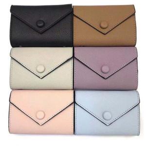 Portafoglio in pelle da donna per donna Multi Color Designer Breve portafoglio Portafoglio Portafoglio Lady Borsa Classic Zipper Pocket con scatola di alta qualità A1 WMDC