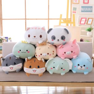 9 Styles Animal Sweet Dinosaur Pig Cat Bear Plush Toy Soft Cartoon Panda Hamster Elephant Deer Stuffed Doll Baby Pillow Gift Wholesale