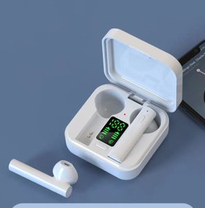 2020 Mais recente earbuds carregador solar air6 mais TWS Bluetooth Headphone in-ear fones de ouvido bluetooth sem fio com display LED