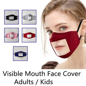 Зримое выражение Взрослые Дети Маска для лица Прозрачный многоразовый Анти Dust маска для лица Lip Reading Дизайнер Маски DDA213
