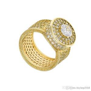 Поп High USpecial USpecial Mens Hip Hop Кольца золотые украшения Серебро Iced Out Большие Кольца Кристалл Gemstone Кольца с бриллиантами для мужчин