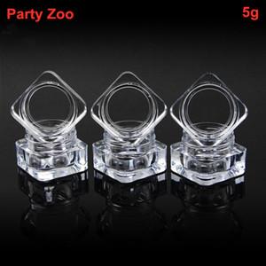 500 X 5g Empty Clear Acrylic Box Storage squre Container Charm Earring Gemstone Boxes Bead Gems Trinket Jewelry Lip Balm Jar