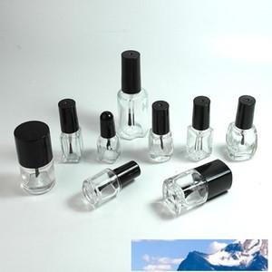 إفراغ مسح زجاج gelish الأشعة فوق طلاء الأظافر زجاجة الأظافر قوارير النفط 5-8-10-12-15ml ساحة جولة الشكل مع البلاستيك الأسود كاب برغي