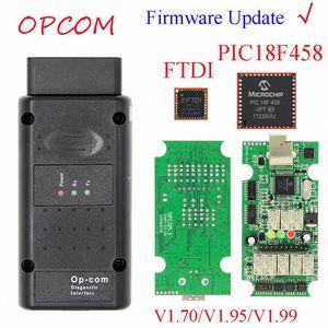 Может флэш Обновление прошивки OPCOM 1,99 1,95 1,70 OBD2 CAN BUS Code Reader для OP COM OP COM диагностический PIC18F458 FTDI Chip Z9Zk #