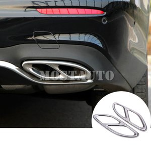 For Benz E Class W213 S213 Rear Exhaust Muffler Tail Pipe Cover 2016-2018 2pcs