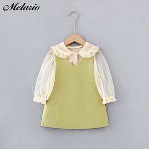 Melario Mädchen 2020 Herbst-Kind-Kleidung Outfits Baby Shirts Kleid Kinder Langarm Prinzessin Vestidos Jale #