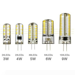 G4 12V 110-220V LED Corn Lamp 3W 4W 5W 6W 9W LED Light 3014 Corn Bulb Silicone Lamps Crystal Chandelier Home Decoration Light